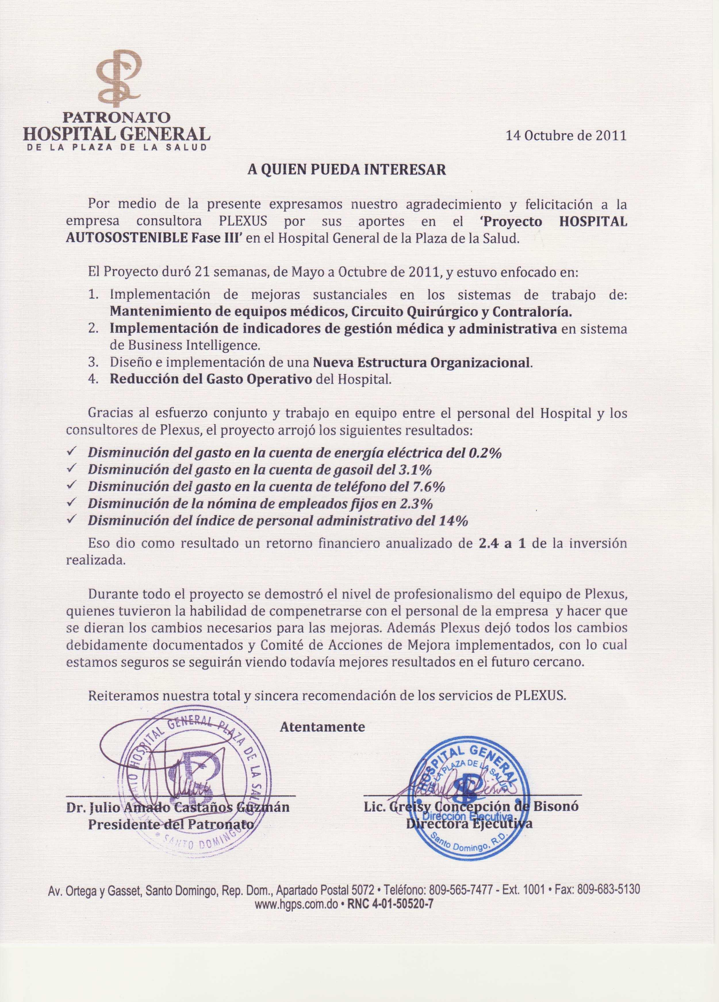 Circuito Quirurgico : Plexus business solutions u2013 hospital general de la plaza de la salud